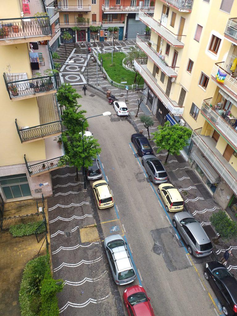 via deserta dal mio balcone